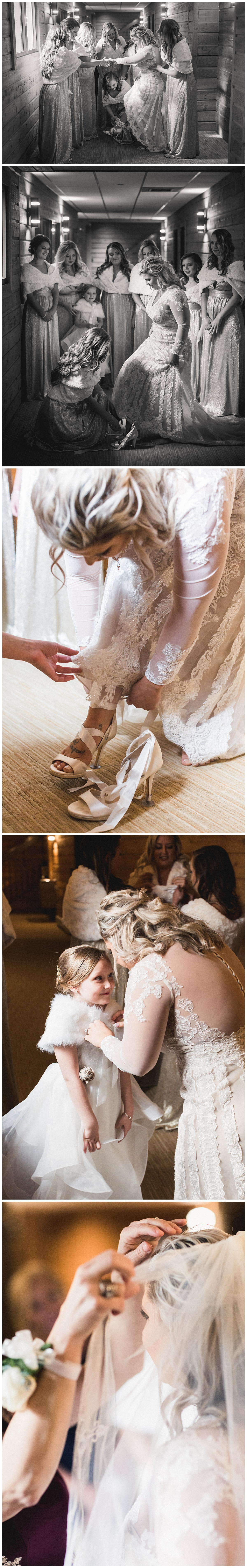 Curtis Wallis Wedding Photographer - Bride and Bridesmaids WatersEdge Event center