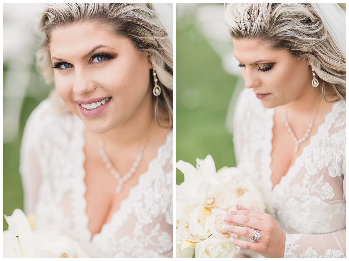 Bride portraits on wedding day