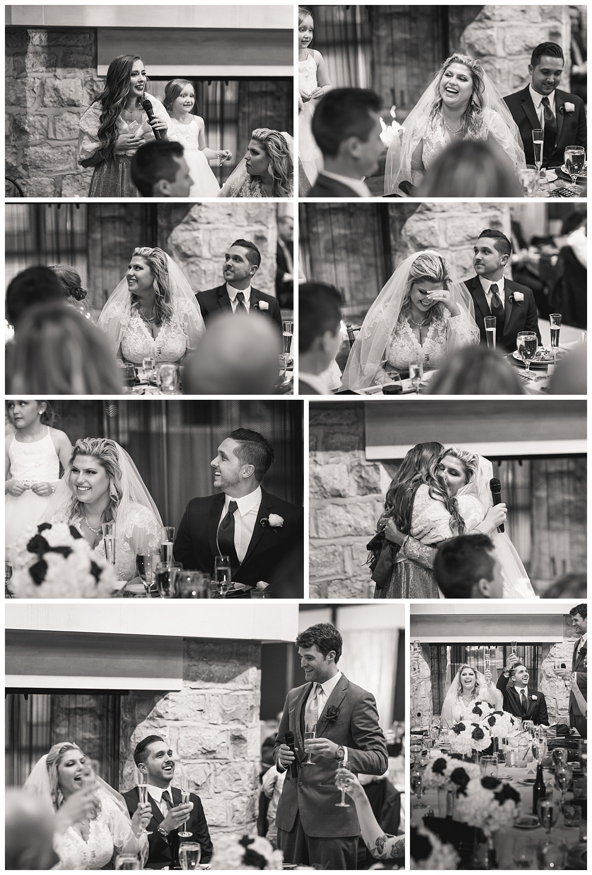 Wedding toast and speeches - Wedding photography by Curtis Wallis