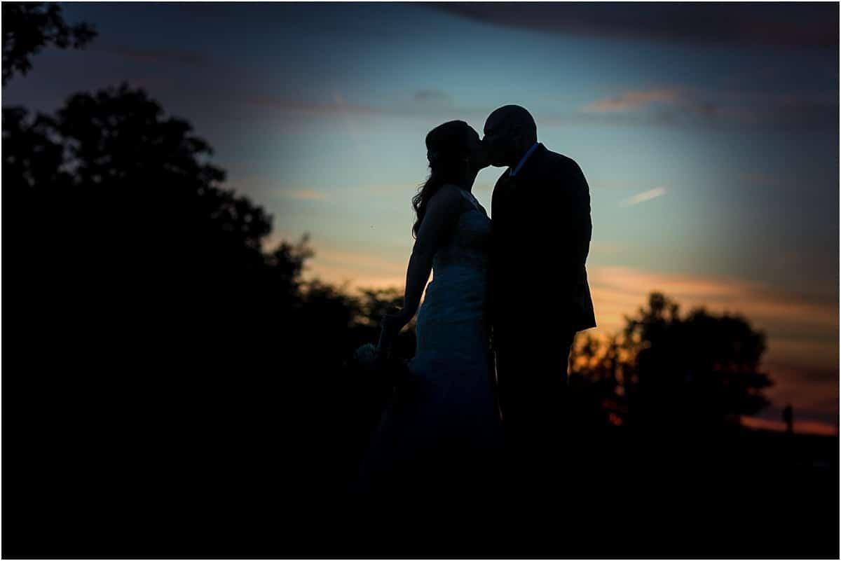 NIght photo bride and groom wedding day