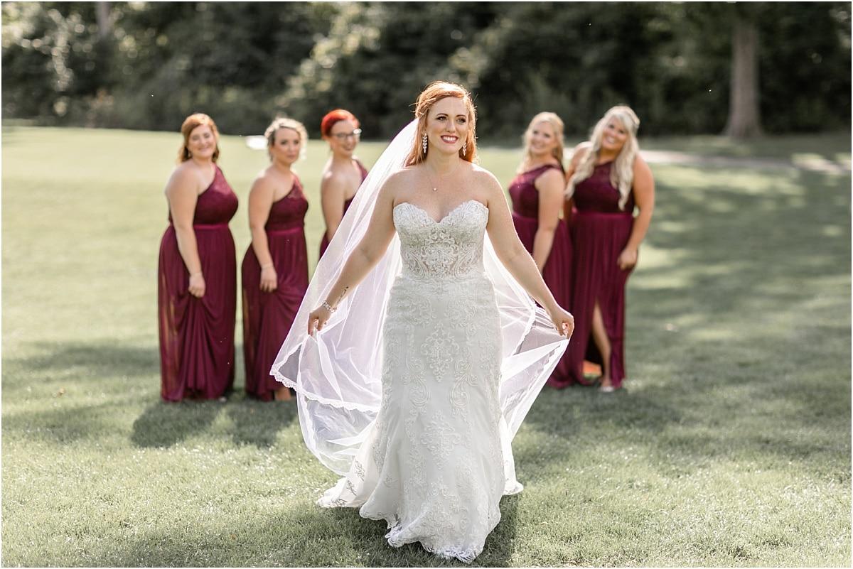 Bride and Bridesmaids Powell Ohio