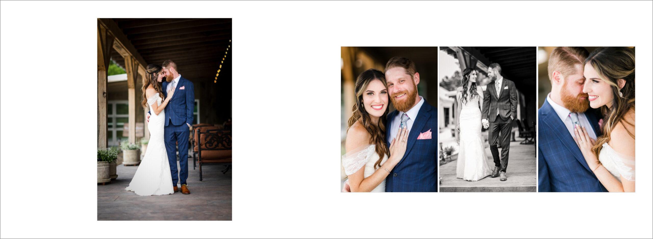 Bride and Groom porch photos